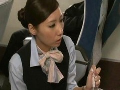 Asian, Handjob, Japanese, Stewardess, Stewardess giving handjob, Gotporn