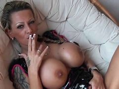 Smoking, Smoking amateur blowjob, Xhamster