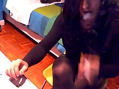 Crossdresser, Smoking, Dress, Smoking mrs, Xhamster