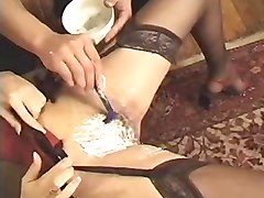 French, Shaving, Shaved brunette milf, Xhamster