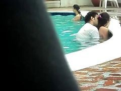Pool, Couple, Expose to pool cleaner, Xhamster