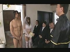Asian, Gangbang, Japanese, Bride, The wedding night, Xhamster
