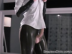 Latex, Strapon, Latex milf, Xhamster