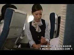 Asian, Handjob, Japanese, Stewardess, Japanese air stewardess, Drtuber
