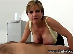 British, Titjob, Milf, Titjob blowjob cumshot in mouth, Pornhub