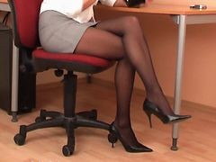 Black, Panties, Pantyhose, Secretary, Secretary affairs, Xhamster