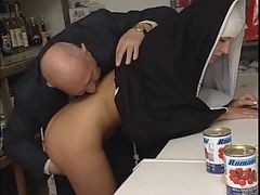Nun, Old Man, British nun, Xhamster