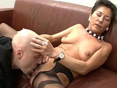 Granny, Hairy, Black, German, Wife in sexy lingerie, Xhamster