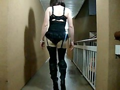 Crossdresser, Public, Dress, Crossdresser double penetration, Xhamster