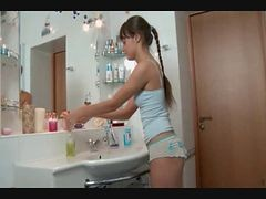 Bath, Bathroom, Cute, Russian, Russian blonde, Xhamster