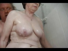 Granny, Bath, Girl taking bath, Xhamster