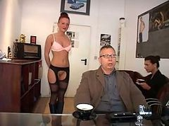 German, Secretary, Secretary flash, Xhamster
