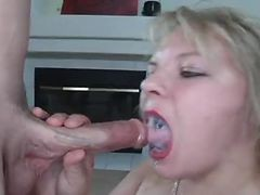 Blonde, Swallow, Cum in mouth swallow, Xhamster