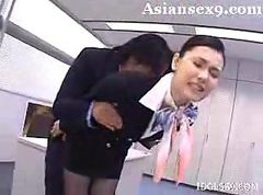 Asian, Stewardess, Stewardess facial, Hardsextube