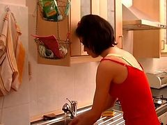 Kitchen, Milf, Milf straberry, Xhamster