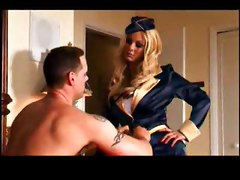 Stewardess, Stewardess in toilet, Hardsextube