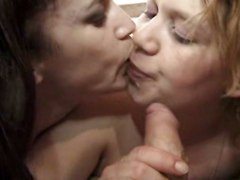 Lesbian, Kissing, Man and wife cum swapping kiss, Xhamster