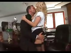Blonde, Riding, Stockings, Secretary, Secretary chuby handjob, Pornhub