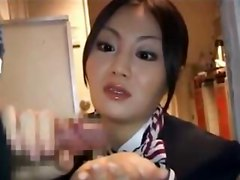 Stewardess, Busty stewardess hot handjob, Hardsextube