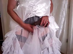 Black, Wedding, Dress, Dildo, Wedding dress, Xhamster