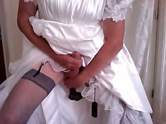 Black, Wedding, Dress, Dildo, Dress open, Xhamster
