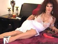 Granny, Smoking, Solo, Cumshot, Cigar smoking, Hardsextube