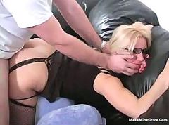 Blonde, Glasses, Ass, Blonde gangbanged by soldiers, Gotporn