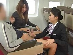 Asian, Handjob, Japanese, Stewardess, Air stewardess in stockings, Drtuber