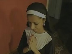 Indian, Nun, Swallow, Latex nun, Xhamster